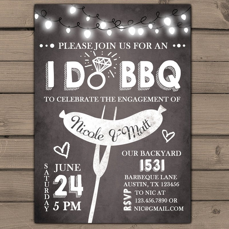 I Do Bbq Invitations I Do Bbq Engagement Party Invitation Rehearsal Dinner
