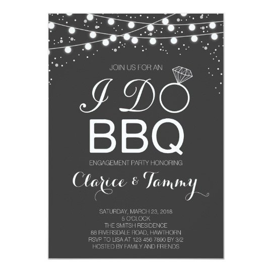 I Do Bbq Invitations I Do Bbq Invitation Bbq Engagement Party