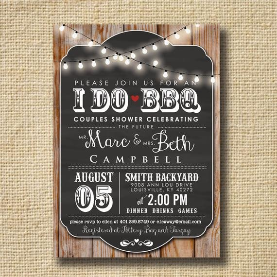I Do Bbq Invitations I Do Bbq Invitation Engagement Party Invite by Creativelime