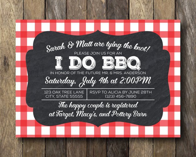 I Do Bbq Invitations I Do Bbq Invitation Printable Shower Invite Engagement