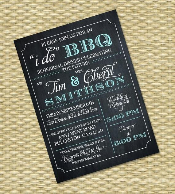 I Do Bbq Invitations I Do Bbq Invitation Rehearsal Dinner Invite Couples Shower