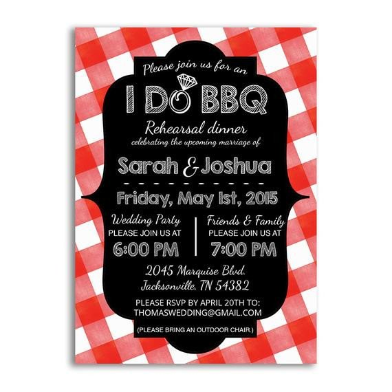 I Do Bbq Invitations I Do Bbq Invitation Rehearsal Dinner Invites I Do Bbq