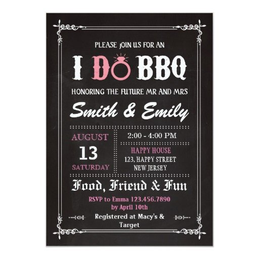 I Do Bbq Invitations I Do Bbq Invitation Wedding Party Invitation