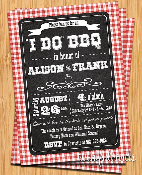 I Do Bbq Invitations I Do Bbq Invitations for Weddings Engagement Parties