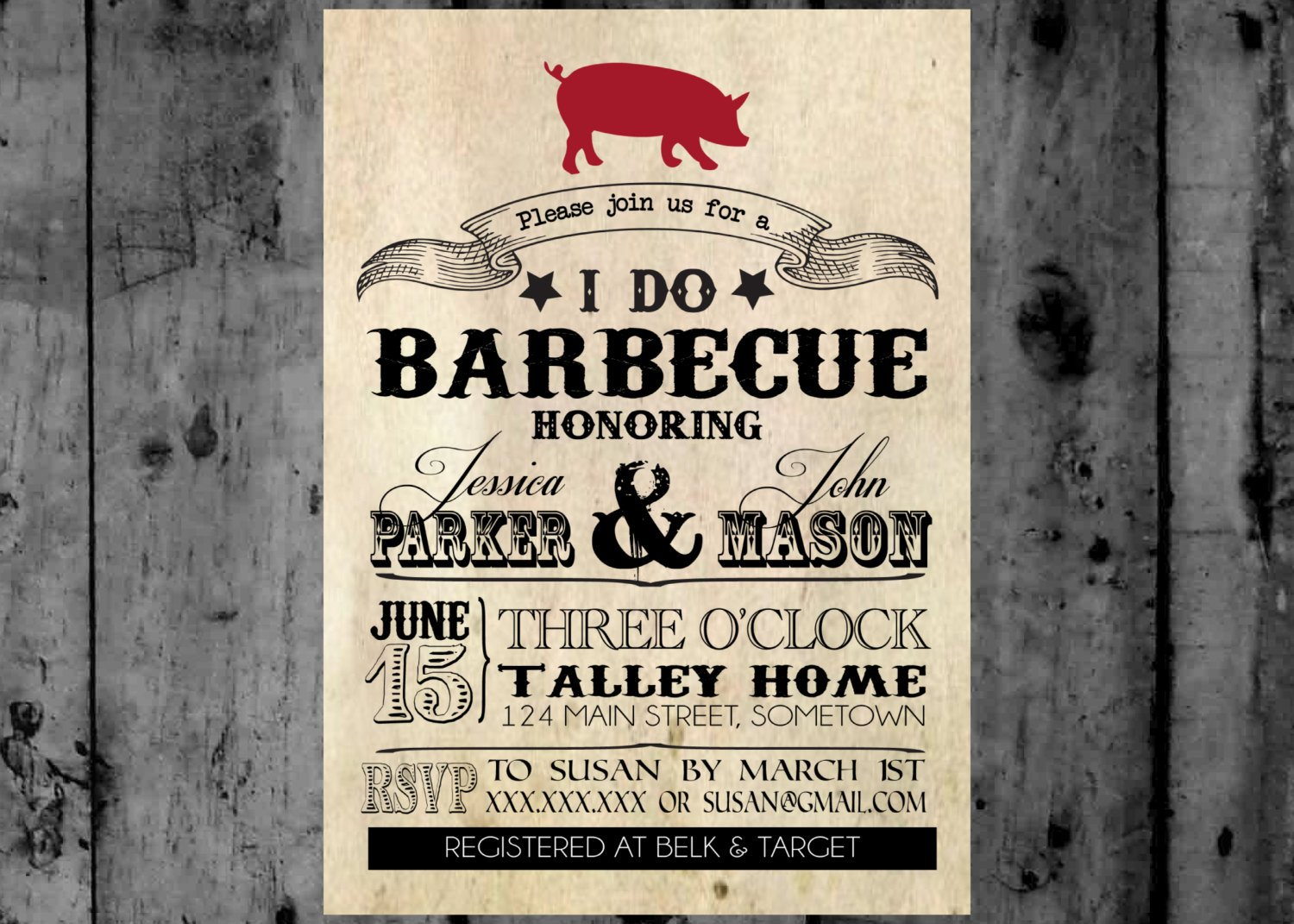 I Do Bbq Invitations I Do Bbq Printable Party Invitation
