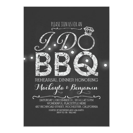 I Do Bbq Invitations I Do Bbq Rehearsal Dinner Invitation