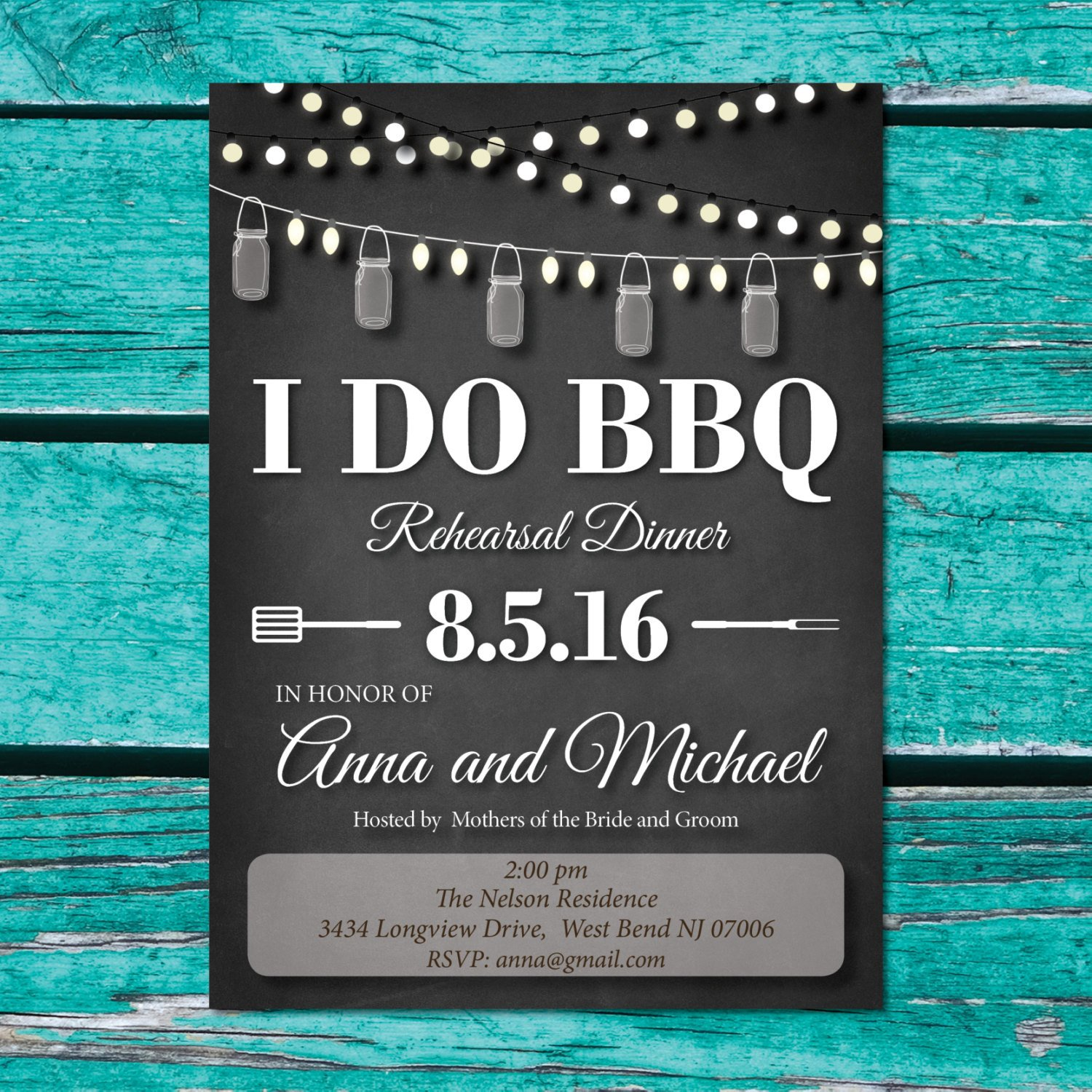 I Do Bbq Invitations I Do Bbq Rehearsal Dinner Invitations Black and White