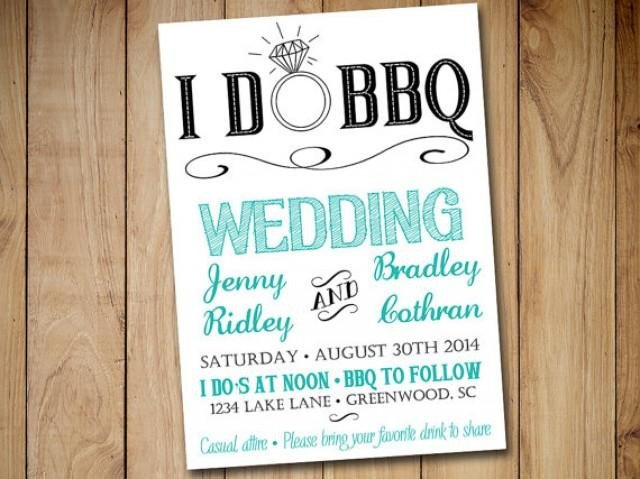 I Do Bbq Invitations I Do Bbq Wedding Invitation Template Download Blue Teal