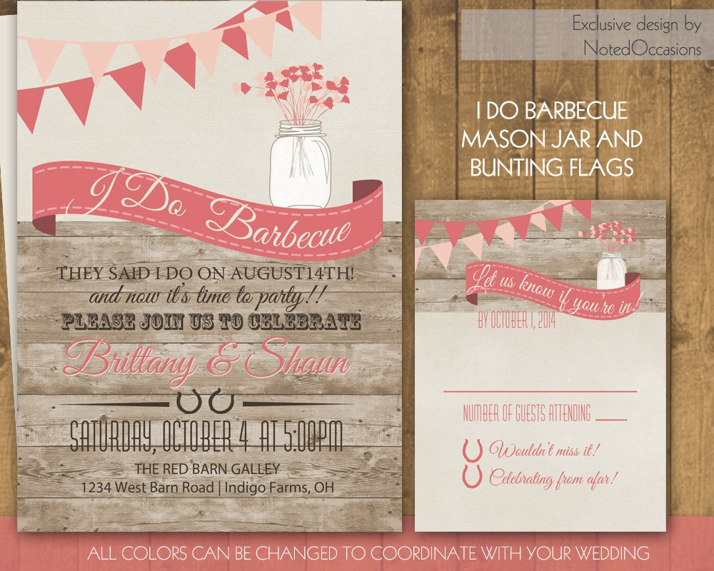 I Do Bbq Invitations I Do Bbq Wedding Invitation Wedding Reception by