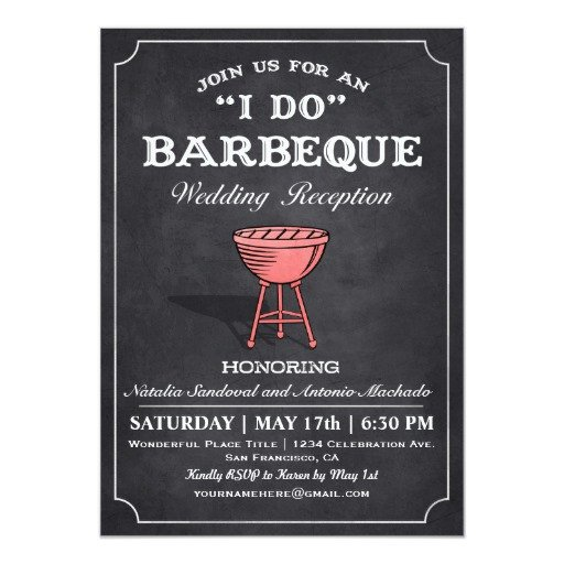 I Do Bbq Invitations I Do Bbq Wedding Reception Invitations