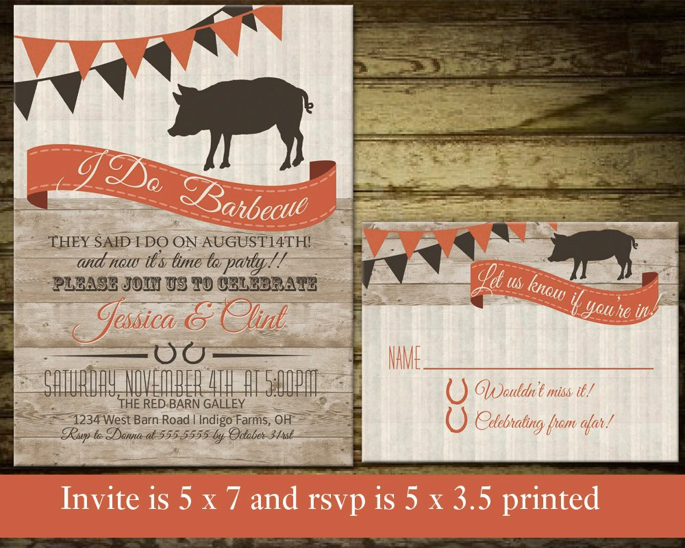 I Do Bbq Invitations I Do Bbq Wedding Reception Invitations Wedding by