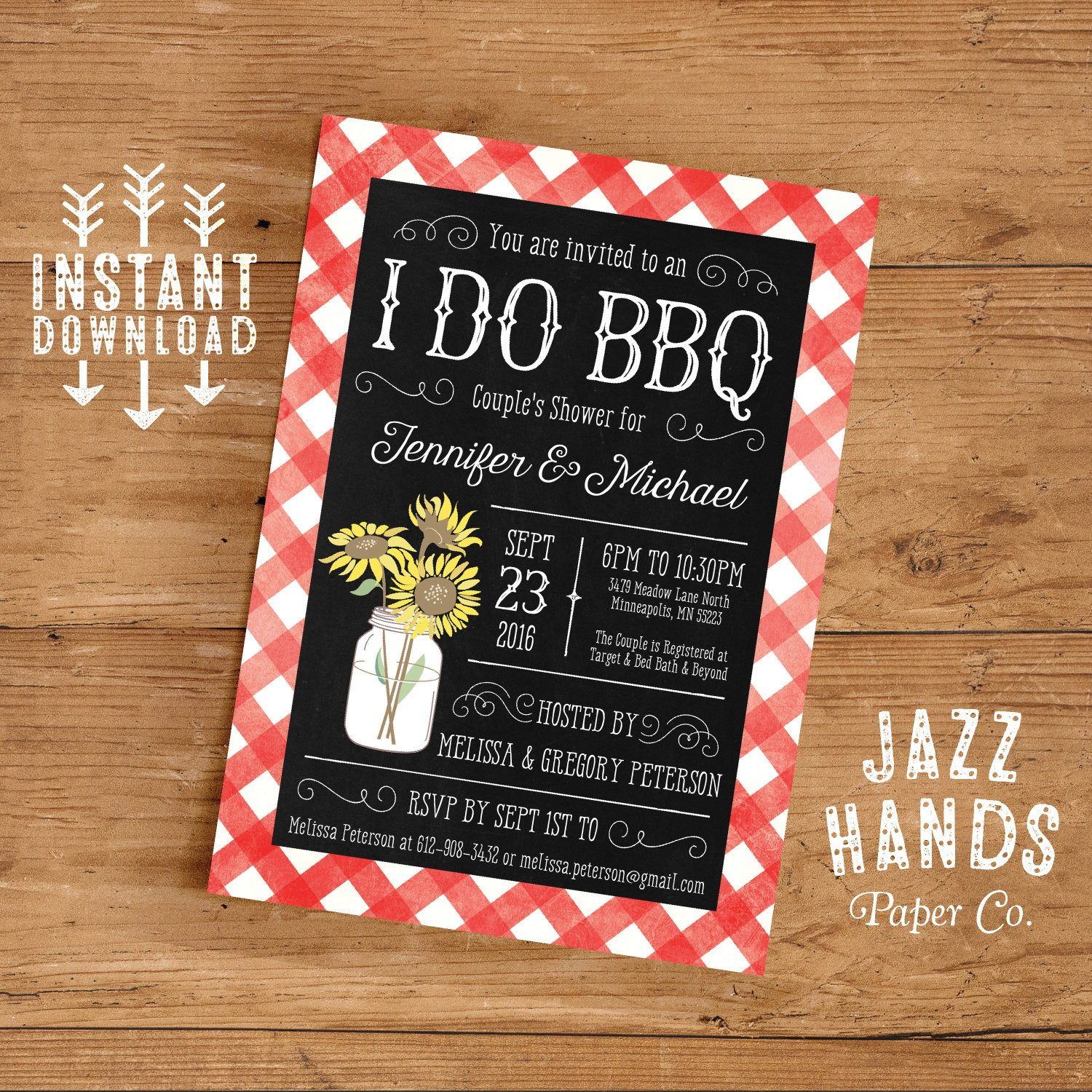 I Do Bbq Invitations Printable I Do Bbq Couples Shower Invitation Template Diy