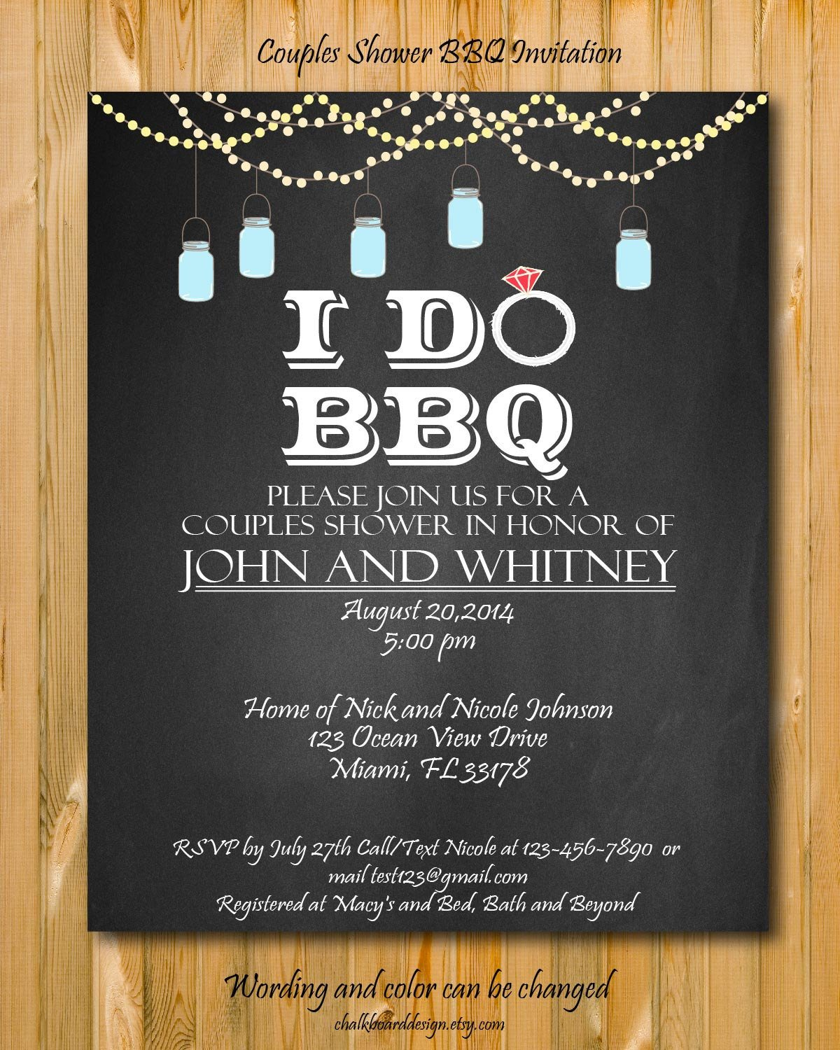 I Do Bbq Invitations Printable I Do Bbq Invitation Diy Party Invitation I Do Bbq