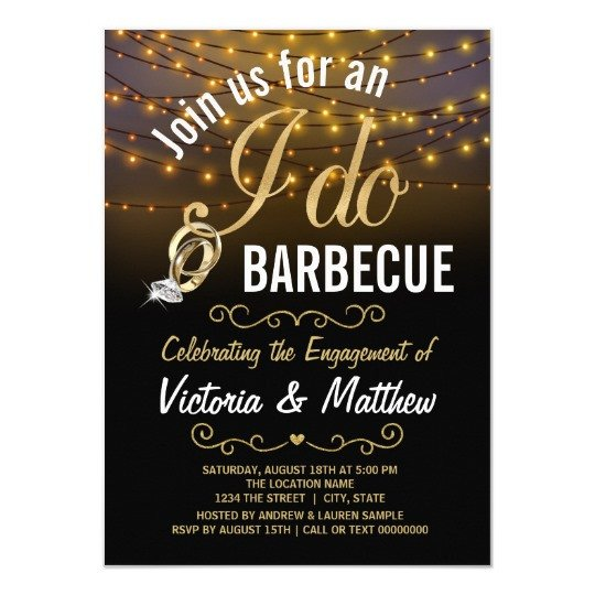 I Do Bbq Invitations String Lights I Do Bbq Invitations