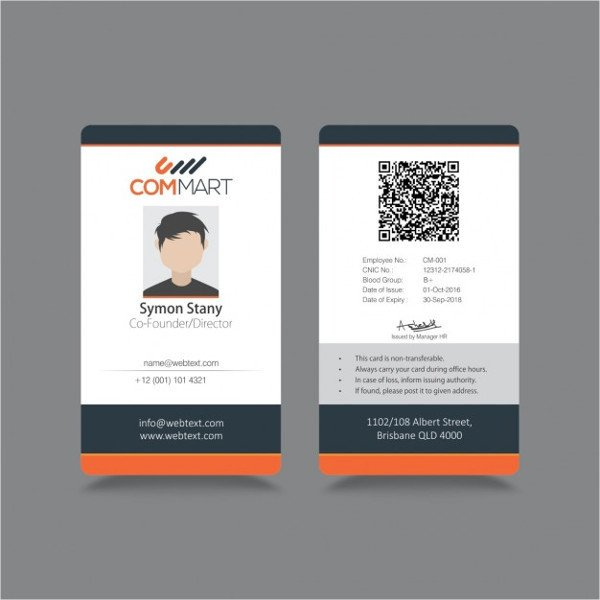 Id Badge Template Free Online 8 Id Badge Templates Psd Vector Eps