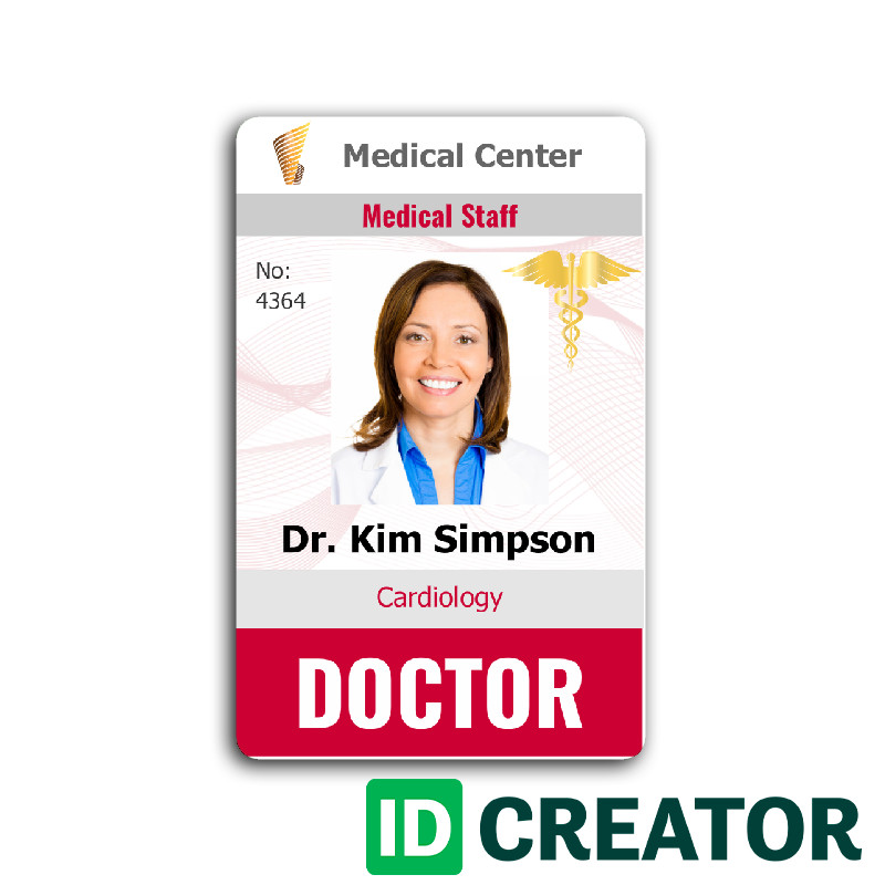 Id Badge Template Free Online Doctor Id Card 4 Healthcare Hospital Badge
