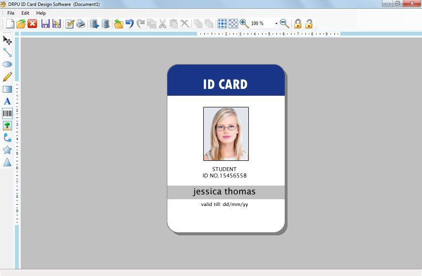 Id Badge Template Free Online Id Card Template