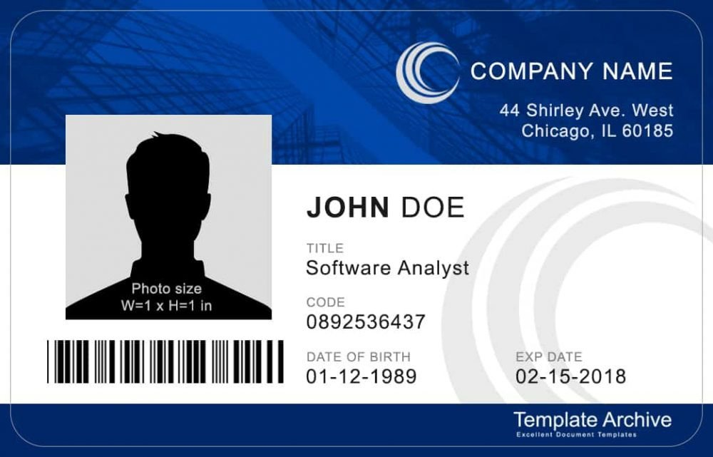 Id Card Template Free 16 Id Badge & Id Card Templates Free Template Archive