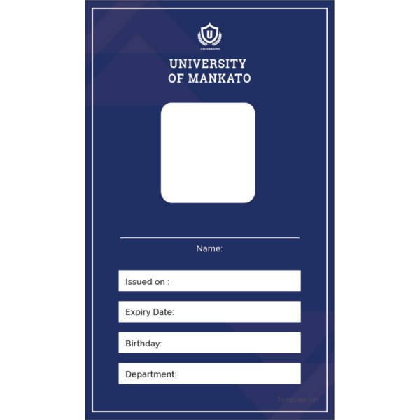 Id Card Template Free 17 Id Card Templates Free Sample Example format