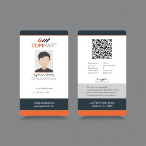 Id Card Template Free 36 Id Card Templates Psd Eps Ai Word