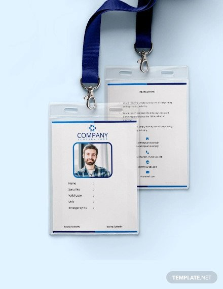 Id Card Template Free 38 Id Card Templates Psd Eps Png