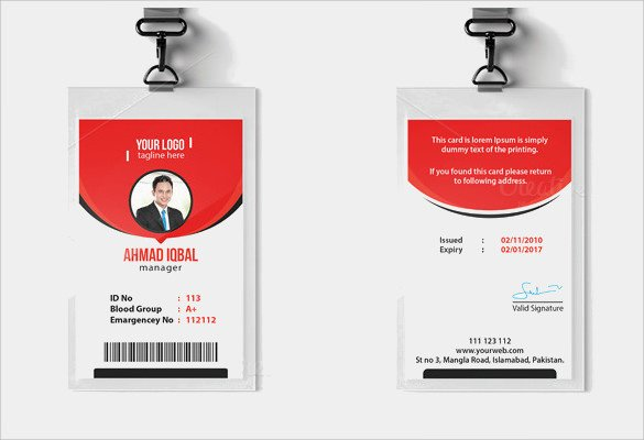 Id Card Template Free Id Card Template 19 Download In Psd Pdf Word
