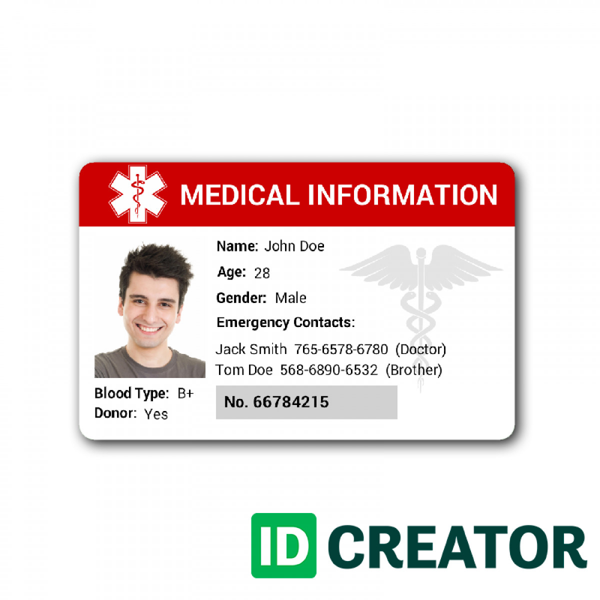 Id Card Template Free Id Card Template