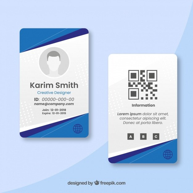 Id Card Template Free Membership Card Vectors S and Psd Files