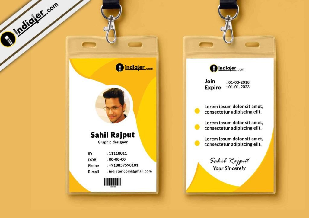 Id Card Template Free Multipurpose Corporate Fice Id Card Free Psd Template