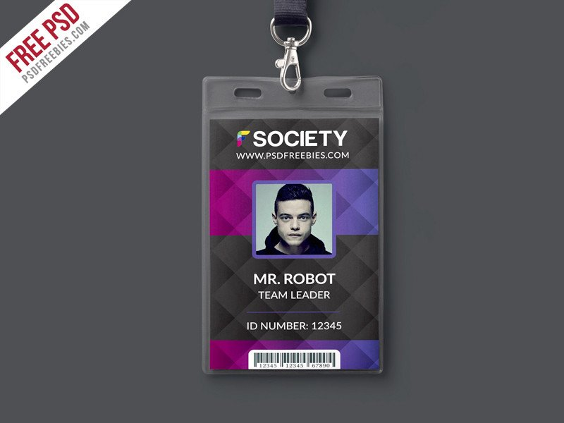 Id Card Template Photoshop Corporate Fice Id Card Psd Template Download Psd