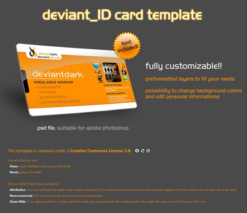 Id Card Template Photoshop Deviant Id Card Template by Deviantdark On Deviantart