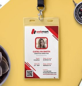 Id Card Template Photoshop Download Free Name Tag Mockup Psd Download Psd