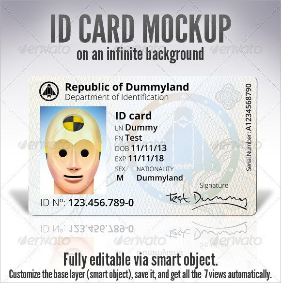 Id Card Template Photoshop Id Card Template 19 Download In Psd Pdf Word