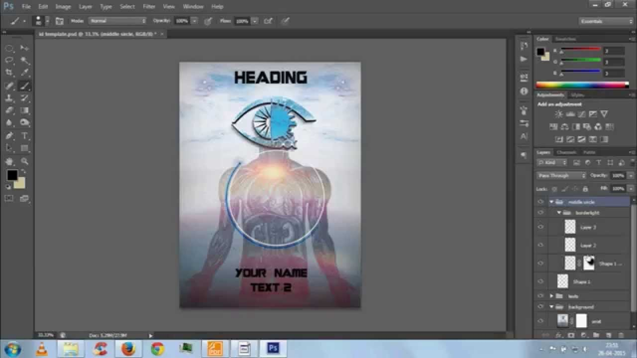 Id Card Template Photoshop Id Card Template with Photoshop Psd File