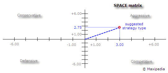 Ie Matrix Template Space Matrix Strategic Management tool Example