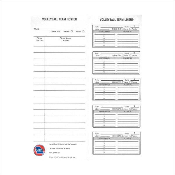 Ihsa Volleyball Lineup Sheet Cif Basketball