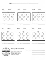 Ihsa Volleyball Lineup Sheet soccer formation Lineup Sheet Download Fillable Pdf