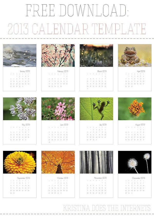 In Design Calendar Templates 18 Best Free Indesign Templates Images On Pinterest