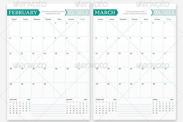 In Design Calendar Templates 20 Beautiful Indesign Calendar Templates – Design Freebies