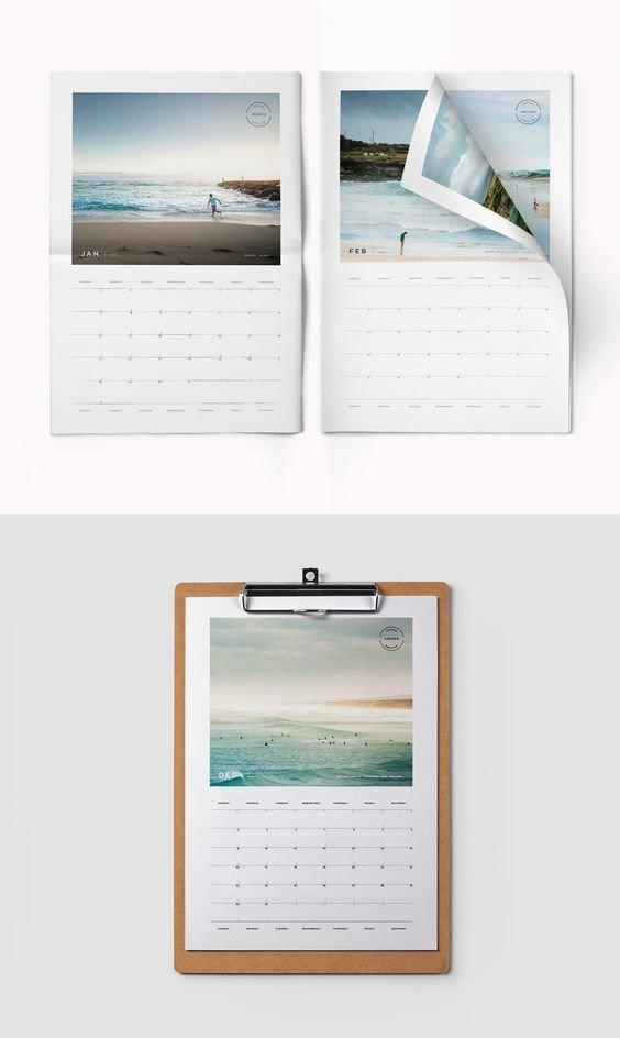 In Design Calendar Templates 2018 Printable Calendar Indesign Template
