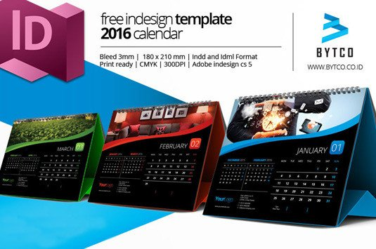 In Design Calendar Templates 4 Free 2016 Calendar Template Designs
