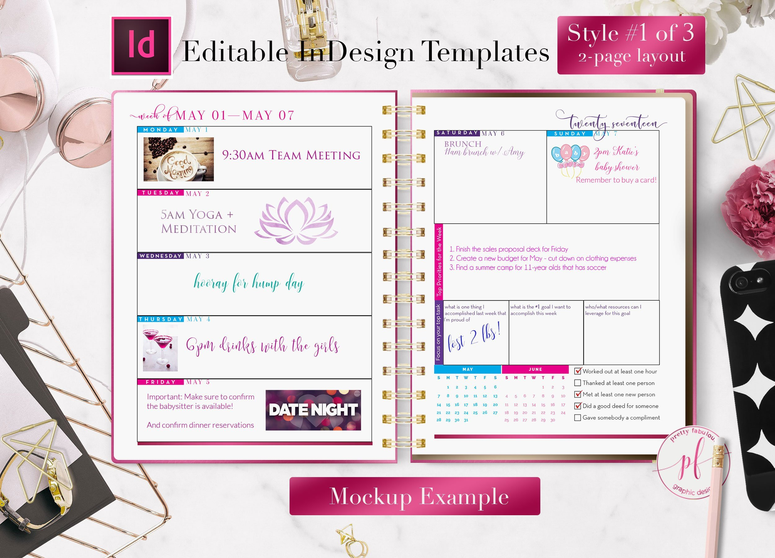 In Design Calendar Templates Weekly Calendar