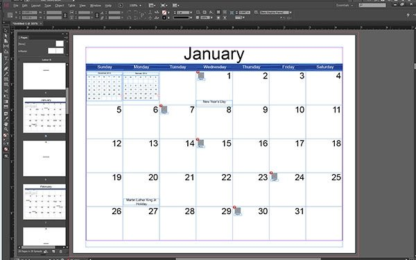 In Design Calendar Templates where to Find Great Indesign Templates Part 1