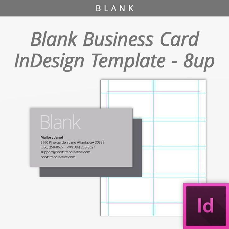 In Design Postcard Template Blank Indesign Business Card Template 8 Up Free Download