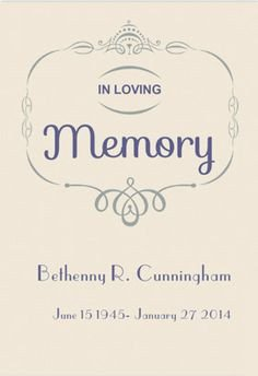 In Loving Memory Template Free 1000 Images About Memorial Announcements On Pinterest