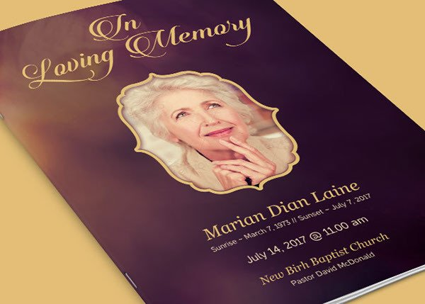 In Loving Memory Template Free In Loving Memory Funeral Program Template On Behance