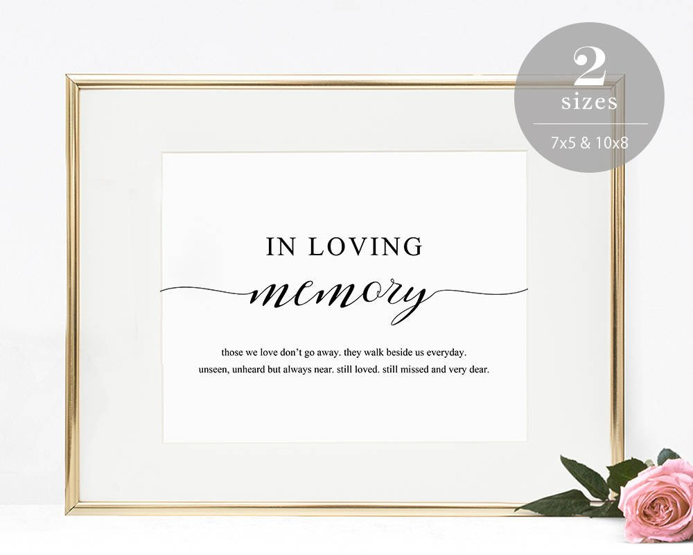 In Loving Memory Template Free In Loving Memory Sign Template Printable In Memory Sign
