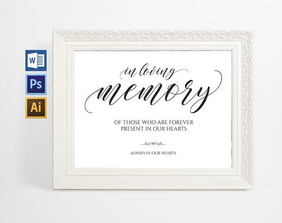 In Loving Memory Template Free In Loving Memory Sign Wpc38 Invitation Templates