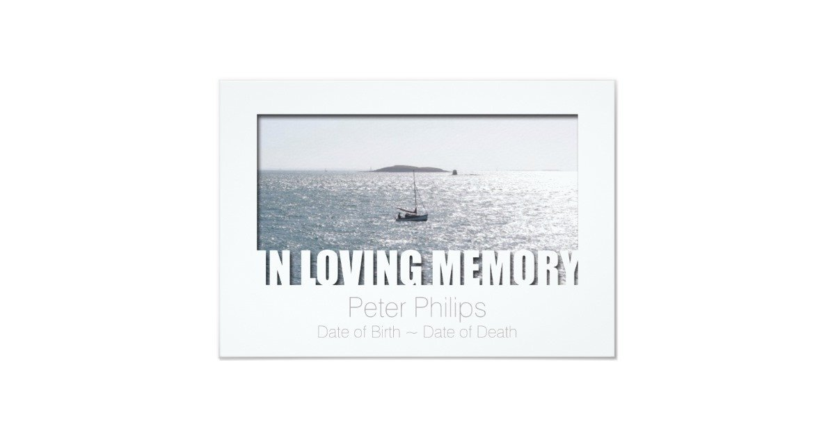 In Loving Memory Template Free In Loving Memory Template 4 Celebration Of Life Card
