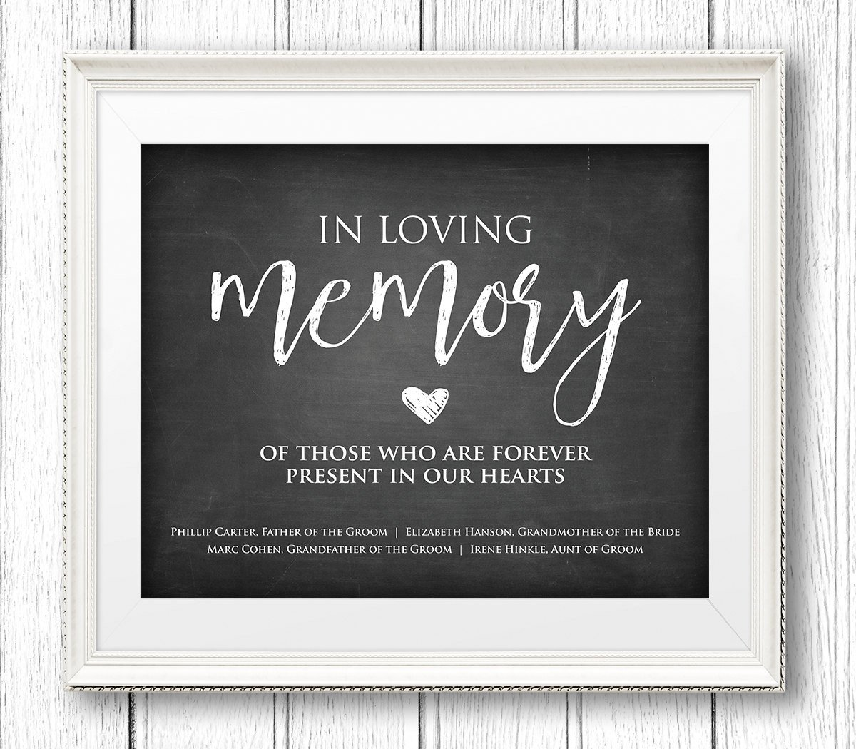 In Loving Memory Template Free In Loving Memory Wedding Sign Instant Download Personalize